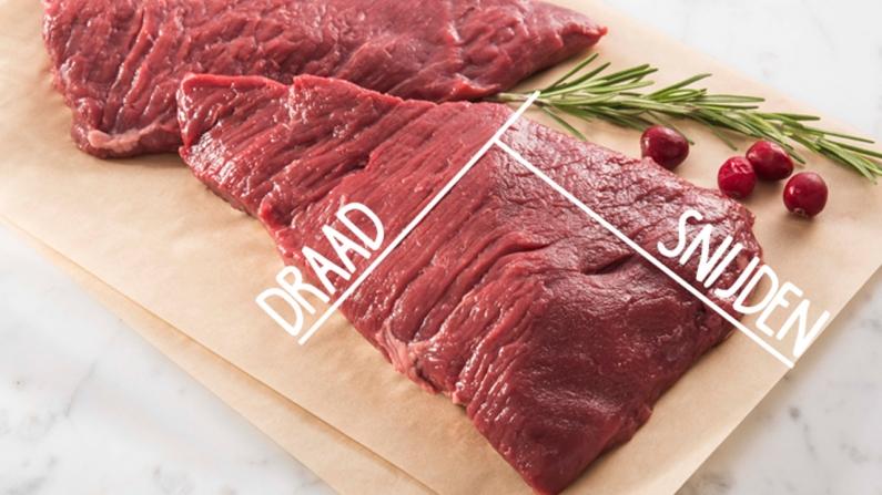 snijrichting vlees